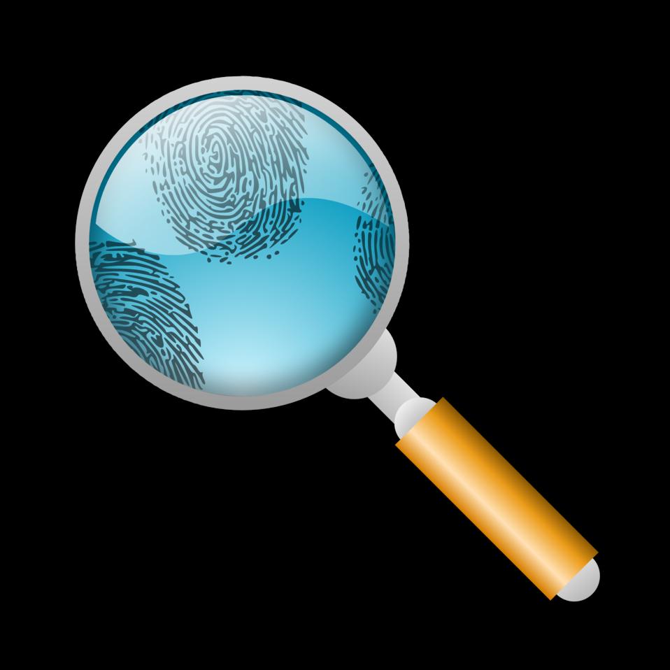 fingerprints and eyeglass