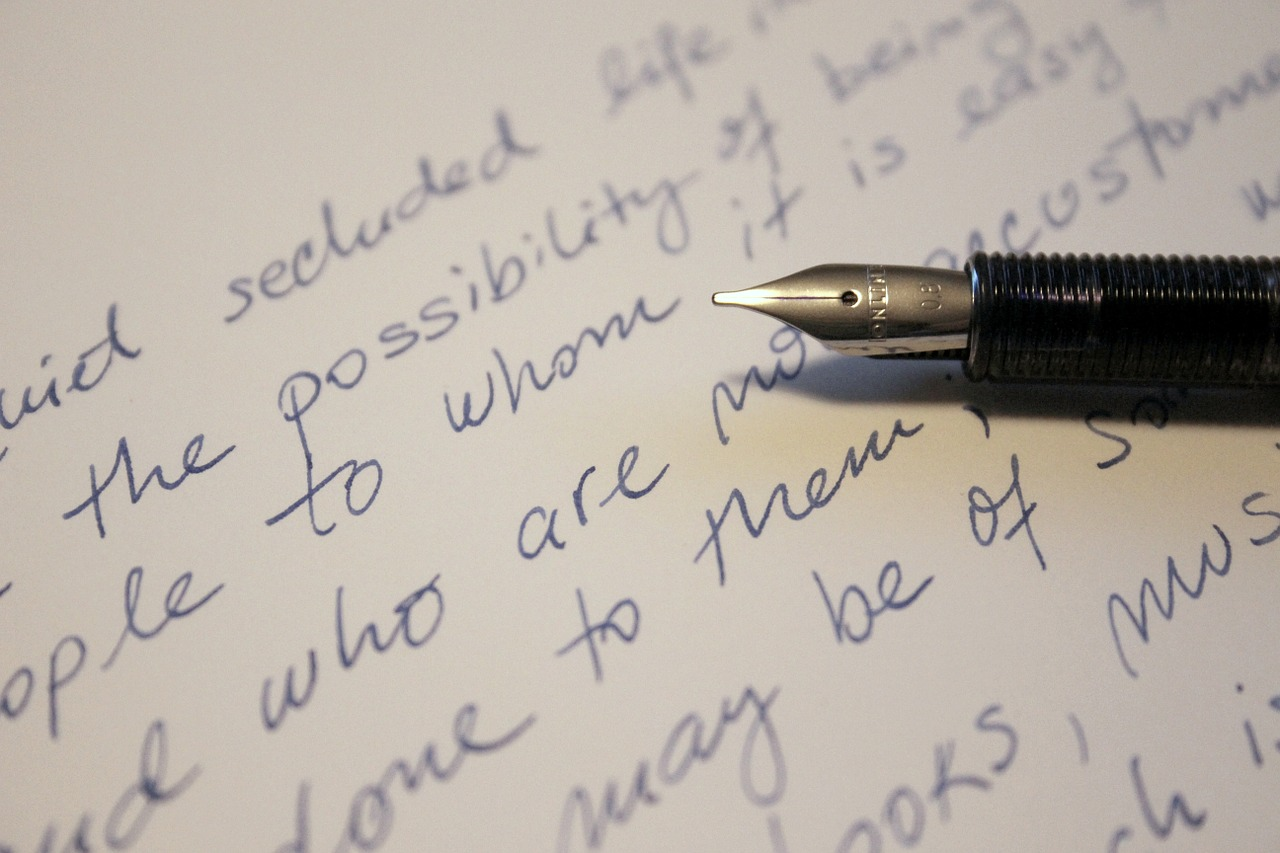 pen and handwritten text