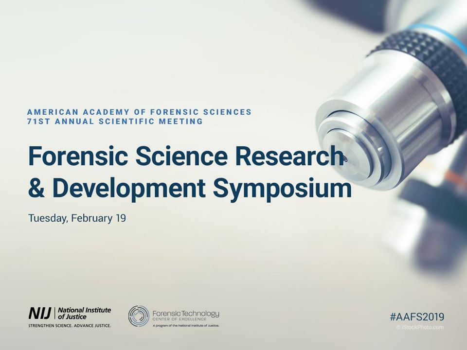 Now Available Online: NIJ Forensic Science Research and Development Symposium