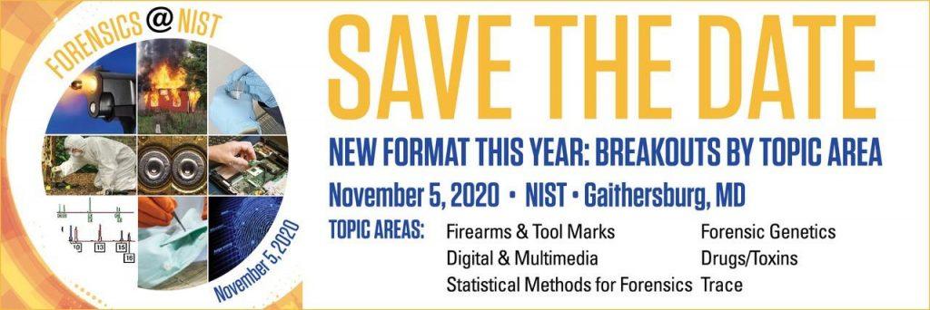 Mark Your Calendar: Forensics@NIST Virtual Conference November 5-6