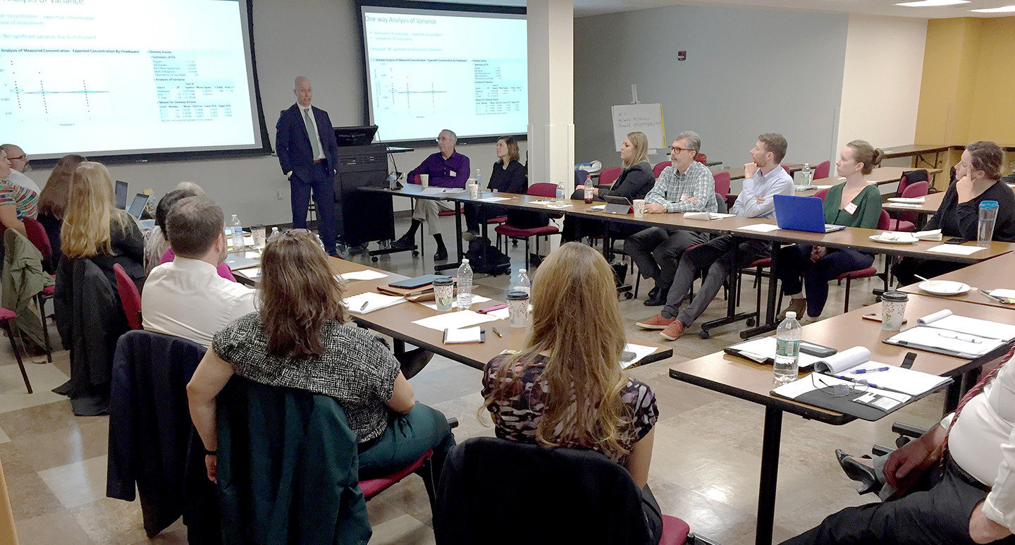 Attendees at a recent meeting on blind testing proficiency