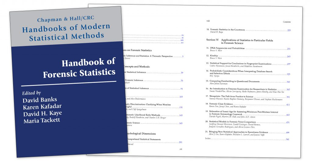 Newly Released Handbook of Forensic Statistics Features Chapters from CSAFE Researchers