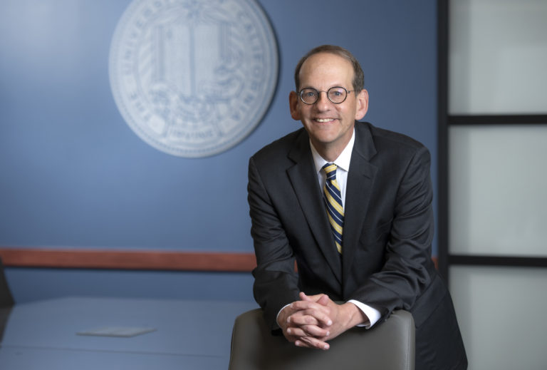 """""""As the campus and society emerge from the many challenges of the past year, we will continue on our ambitious path to reach new heights of excellence and social impact,"""" says Hal S. Stern, UCI provost and executive vice chancellor. Photo by Steve Zylius/UCI."""