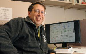 John Butler with DNA mixture data. Credit: NIST